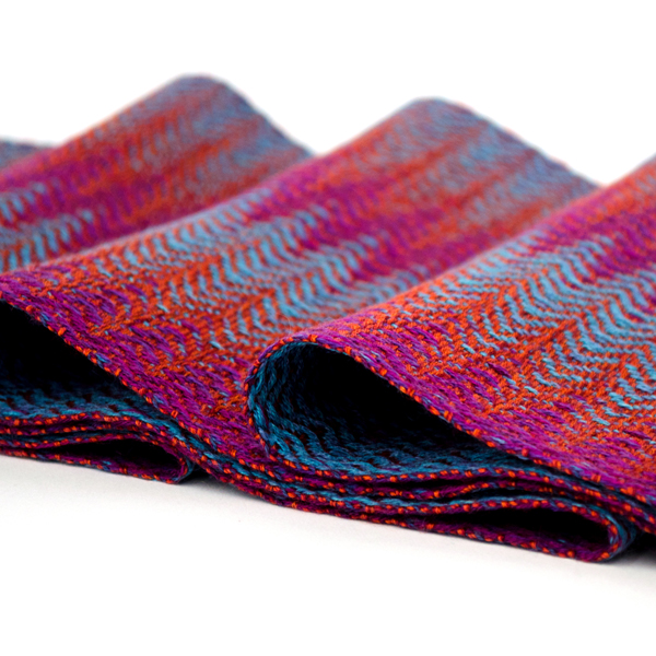 C Booker 06 Pulse scarf in orange-teal-purple (2)