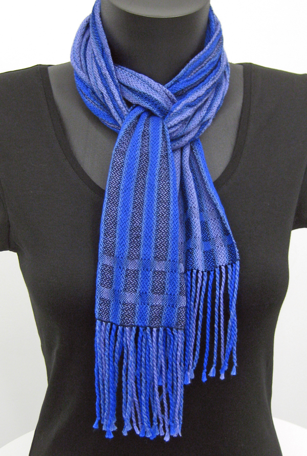 crinkly blue scarf