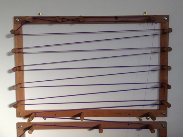 double warping board in use