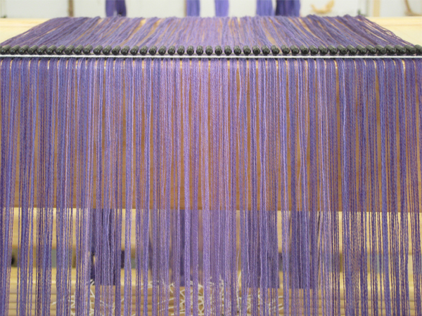 purple warp for lace