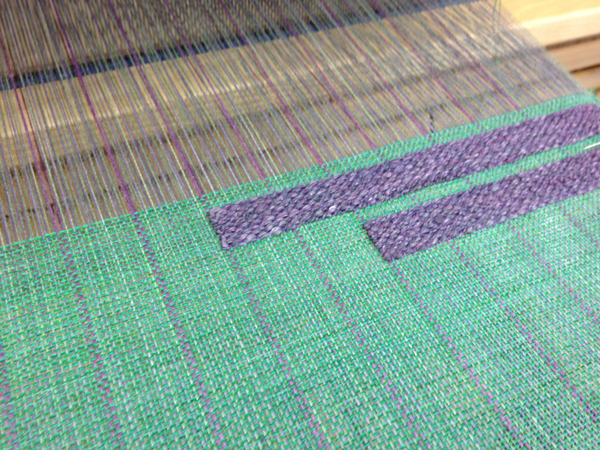 weaving just started