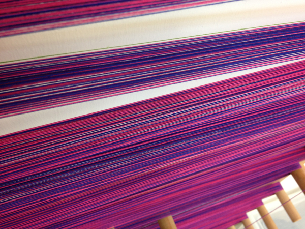 blue-pink cotton warp
