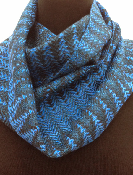 mainly blue graffiti scarf