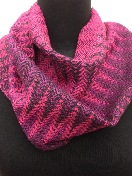 pink purple graffiti scarf