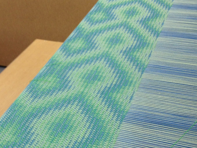 blue green cotton woven