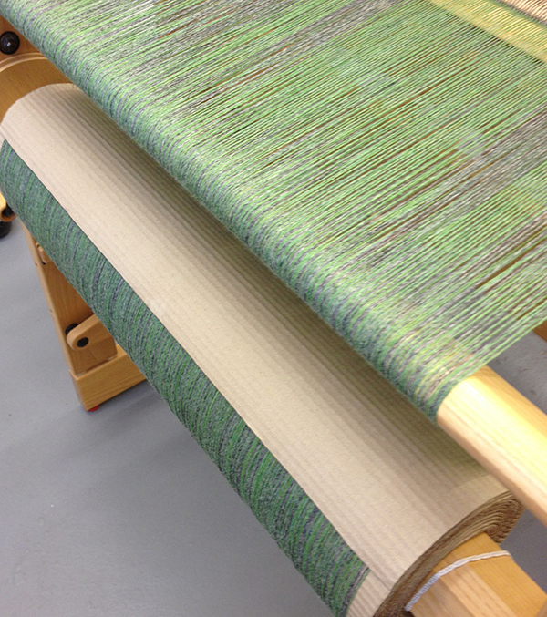 grey green wool warp