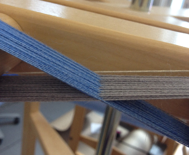 new blue and grey warp