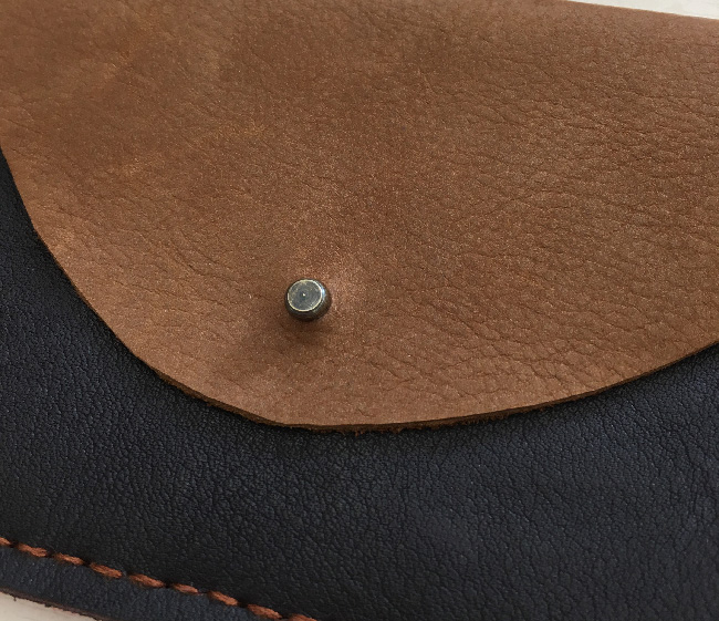 first leather purse stud