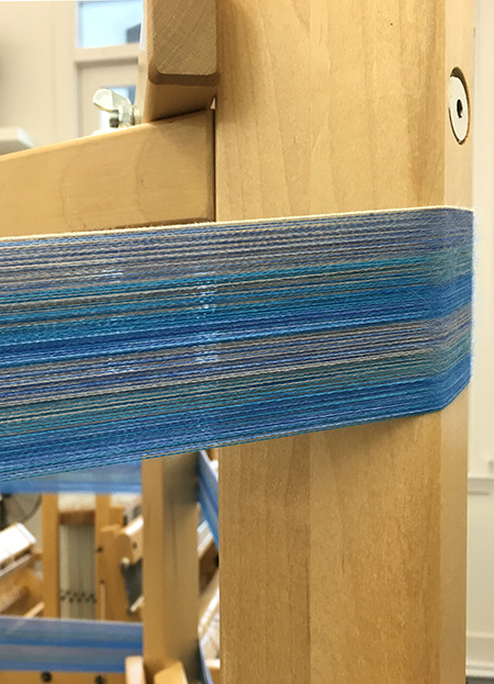 warp in hand-dyed blues