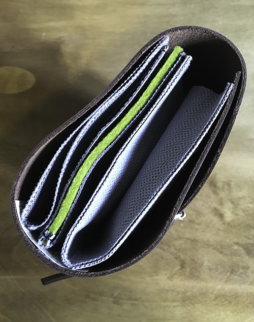 leather wallet end