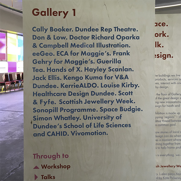DDF Gallery sign