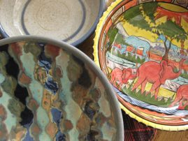 A selection of colourful bowls and dishes