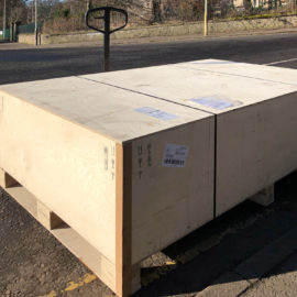 crate in the road